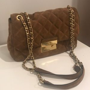 Michael Kors Tan Suede bag great for winter months